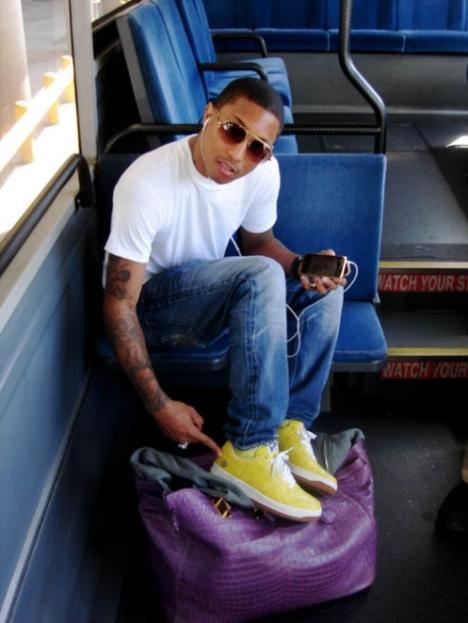 Pharrell + Purple Man Purse. What.